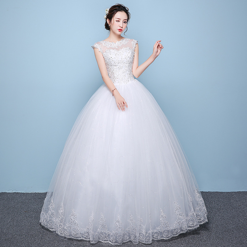 Boho Wedding Dress Vestido Branco Vestido De Noiva Gengli Wedding Dress 2020 New Korean Bride Slim Big Size Round Neck Autumn