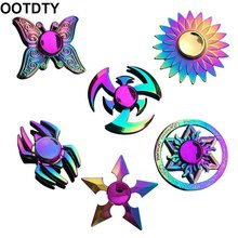 Toy Fidget-Spinner Metal Lotus-Stress Relief Kids New Colorful Gift Dart Butterfly