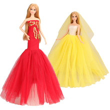 2020 Best Selling Fashion Mooie 2 Pop Jurk/loot Accessoires Wedding Party Kleding Voor Barbie Onze Generatie Poppen DIY gift(China)