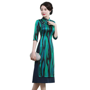 Image 5 - 고급 Cheongsam 드레스의 고대 방법을 복원하는 매일 개선에 슬리브 젊은 여성 패션의 2019 판매 7 분