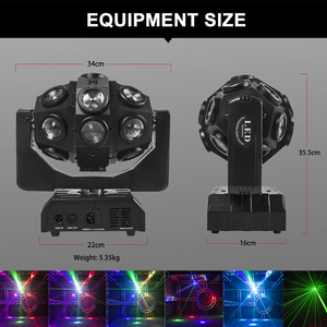 Image 2 - Led 18x12W Moving Head Laser Projektor Beleuchtung RGBW 4in1 Strahl Bühne Licht Wirbelwind Wirkung Für Dj Disco party Ball Strobe Laser