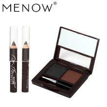 3pcs/lot MENOW Brand Eyebrow + 2pcs Eyeliner Pencil Waterproof Eye Makeup Brow Tint  Liner