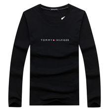 T-shirt à manches longues pour hommes, en coton, marque, tendance, with lettres imprimées, de grande taille, Nouveau S-5XL