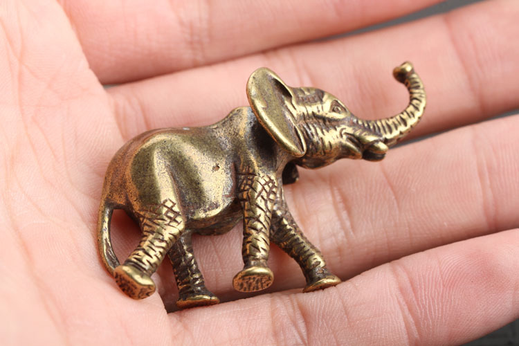 Brass Elephant Key Chains Pendants  (2)