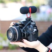 Sairen T Mic çift kafa süper kardioid Stereo kayıt mikrofon kamera DSLR Shutgun mikrofon görüşme canlı mikrofon