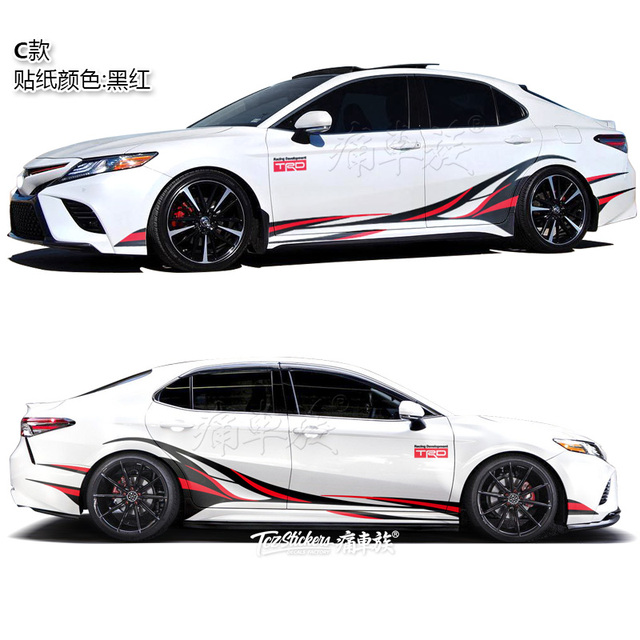 For Toyota Camry Avalon 2019 Car Sticker Body Exterior Decoration Sticker Avalon Sport Exterior Modification 4