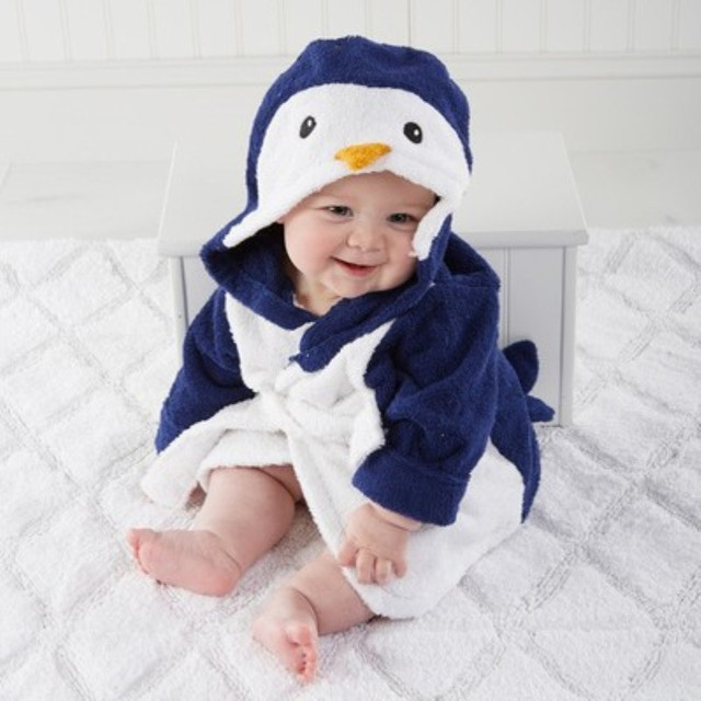 Towel material cartoon style baby bathrobe towel absorbent sweat baby Single bath towel Cotton Suitable for 3 to 12 months