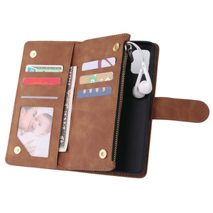 Image 4 - Rits Lederen Voor Samsung Galaxy A01 A11 A21 A41 A51 A71 A81 A91 A50 A30 A70 Case Magnetic Wallet Card flip Stand Phone Bag