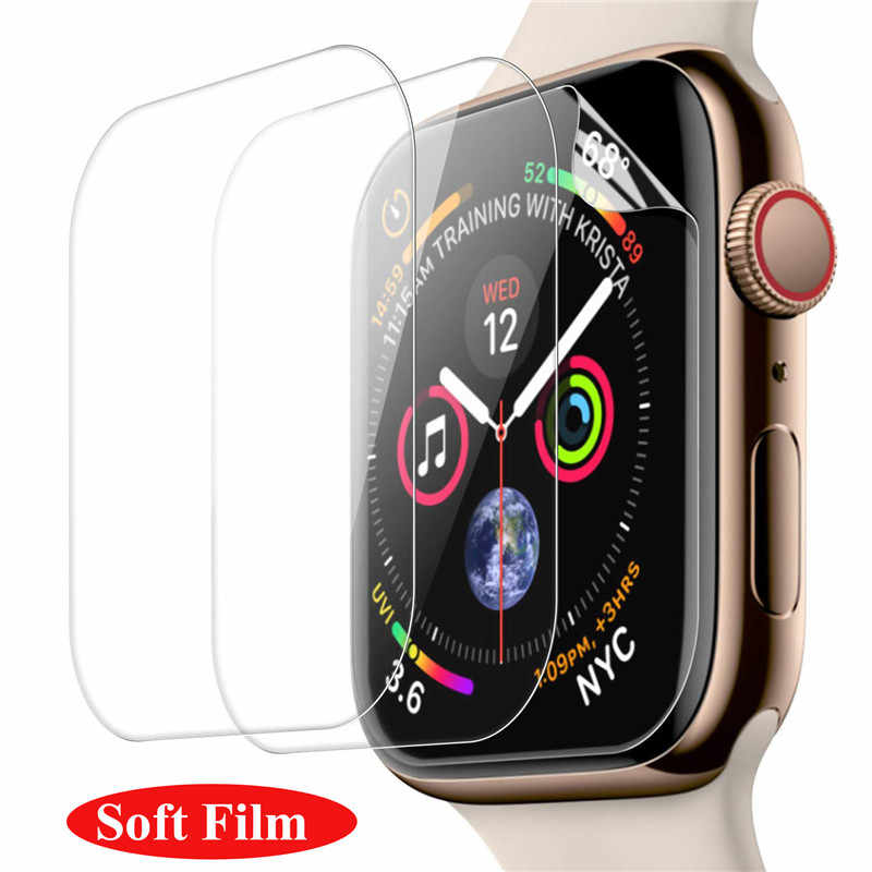 1-3packs Penutup Penuh Screen Tempered Glass untuk Apple Watch 38 Mm 42 Mm 40 Mm 44 Mm Kaca Pelindung Layar aku Watch Series 4 3 2 1