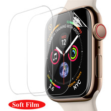 1 3packs Full Cover Screen Tempered Glass for Apple Watch 38mm 42mm 40mm 44mm Screen Protector For I watch Series 6 5 4 3 2 1 SE