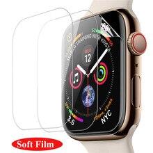 1 3packs tela de cobertura completa vidro temperado para apple watch 38mm 42mm 40mm 44mm protetor de tela para eu assistir série 6 5 4 3 2 1 se