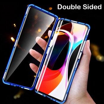 Magnetic Case For Xiaomi 10 CC9 Pro Note 10 lite MIX3 2S F1 Glass Metal Bumper Coque Redmi 9 K30 K20 Note 8 Pro 8T Note 7 Case