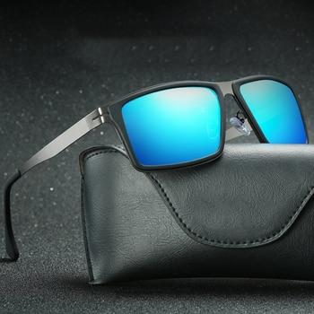 2020 Mirror Lens Matel Frame Men Polarized Sunglasses UV400 Driving Glasses For Men 4 Colors With Box