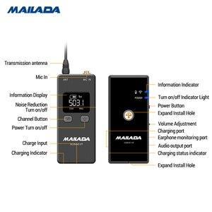 Image 3 - Mailada Vlog Go UHF Condensor système de Microphone sans fil enregistrement vidéo cravate micro pour iPhone Android DSLR pk Rode