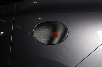 Car Gas Cap Cover Fuel Tank Decal Trim For Maserati Levante 2016 2017 2018 Full Carbon Fiber