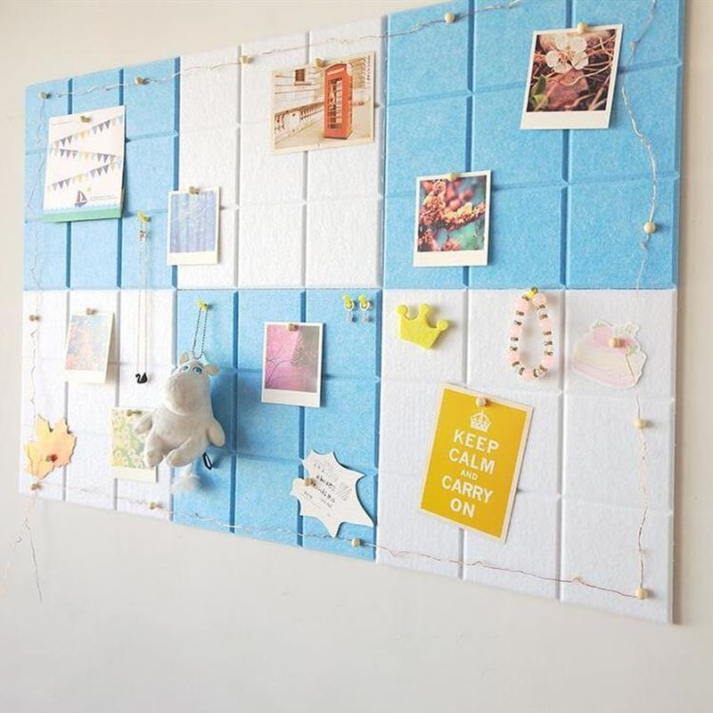 30x30cm Small Square Felt Board Letter Note Message Board Photo Wall Decor Planner Boards Thumb Tack Handmade Diy Craft Feltro