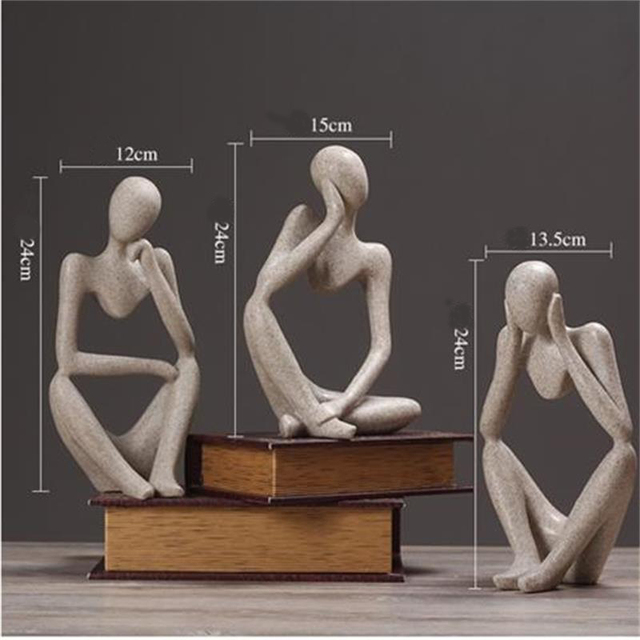 Abstract Character Statue Home Decoration Accessories Creative Home Ornament Drawing Room Office Sandstone Statue Decor figurine 6