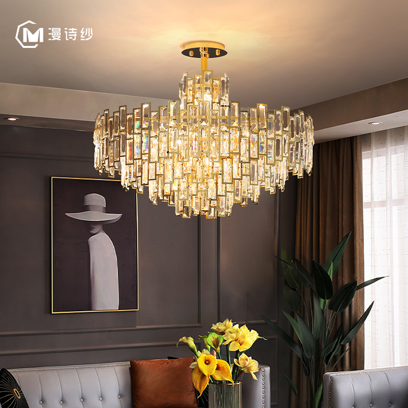 Luxury crystal chandelier, living room lamp, restaurant, bedroom, corridor, bar, porch, hotel interior decoration lamps