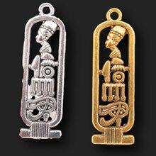 10 шт. старинная египетская Клеопатра бирка шармы ожерелье серьги Сделай Сам металлические подвески для женщин ювелирное изделие ремесло 38*...