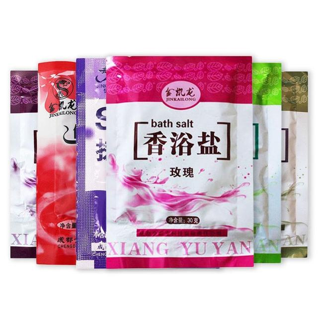 1 Bag Bath Sea Salts Rose Powder Shower Body Foot Massager Skin Care SPA Exfoliation Scruber Gift 3