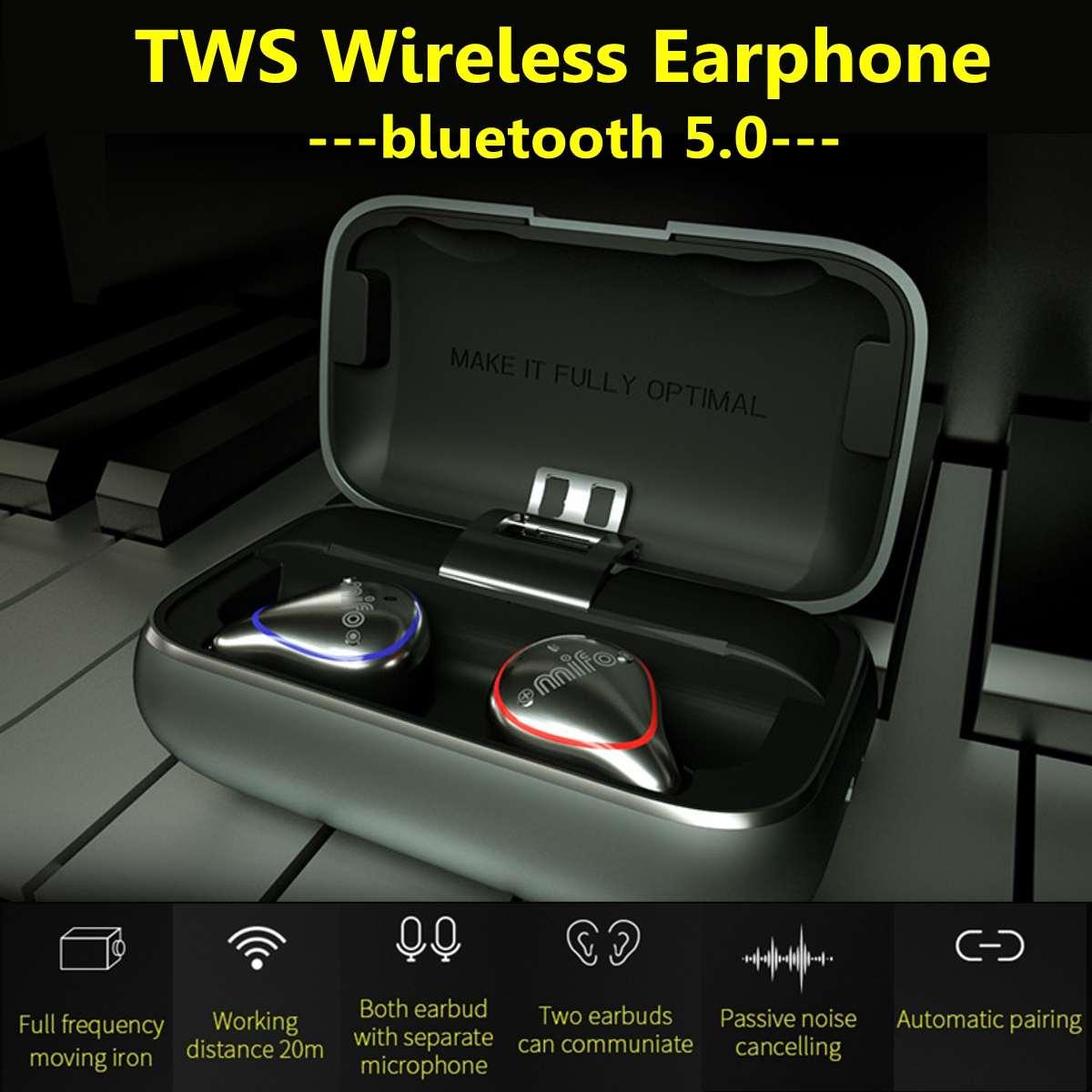Mifo O5 PLUS Mini Bluetooth 5.0 Headsets True Wireless Earbuds Hands Free Sport Stereo Headset Tws Waterproof Earphone Running