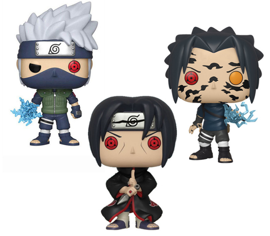 FUNKO POP Naruto Shippuden Sasuke Curse Mark Uchiha Itachi Hatake Kakashi PVC Vinyl Action Figures Collection Model Toys