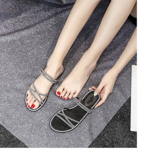 Image 5 - women fat Shoes with shiny rhinestones Girl shoes ladies Rubber soled shoes