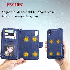 Image 3 - Magnetische Leather Case Voor Iphone Xr Xs 12 11 Pro Max X Se 2020 8 7 6 6S Plus 5 Wallet Card Cover Voor Samsung S20 S10 S9 S8 Gevallen