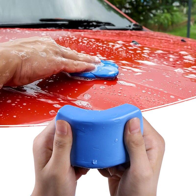 100g Автомойка клей для чистки автомобиля с подробным описанием синий Волшебная глина Авто Чистый глиняный брусок Мини Ручной Автомобильная ...