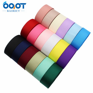 """L-20624-595,3/8"""",1"""",1-1/2"""",10yards Solid color Bilateral flower grosgrain Ribbons,bow cap Wedding party Gift wrap DIY handmade(China)"""