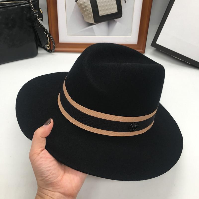 Image 3 - Новая английская флисовая шляпа в форме Ретро М шляпа и ветер и волна. Универсальная шапка-in Мужские фетровых from Аксессуары для одежды on AliExpress - 11.11_Double 11_Singles' Day