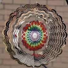 Нержавеющая сталь ветер Спиннер твердый круглый 3D металлический звук хрустящий кулон для комнаты Крытый Открытый Сад украшения ремесла украшения