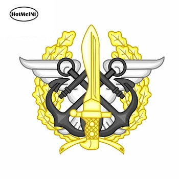 HotMeiNi 13cm x 11.5cm Car Sticker Mando Conjunto de Operaciones Especiales Special Operations Vinyl Badge Decal Graphic image
