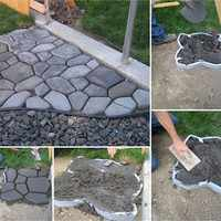 DIY Garden Concrete Molds Practical Durable Reusable Geometric Shape Personality Stone Design Paving Molds Stepping Stone Mould