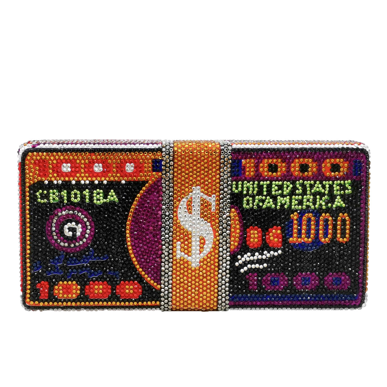 embreagem dólar design luxo bolsas de ombro feminino floral único