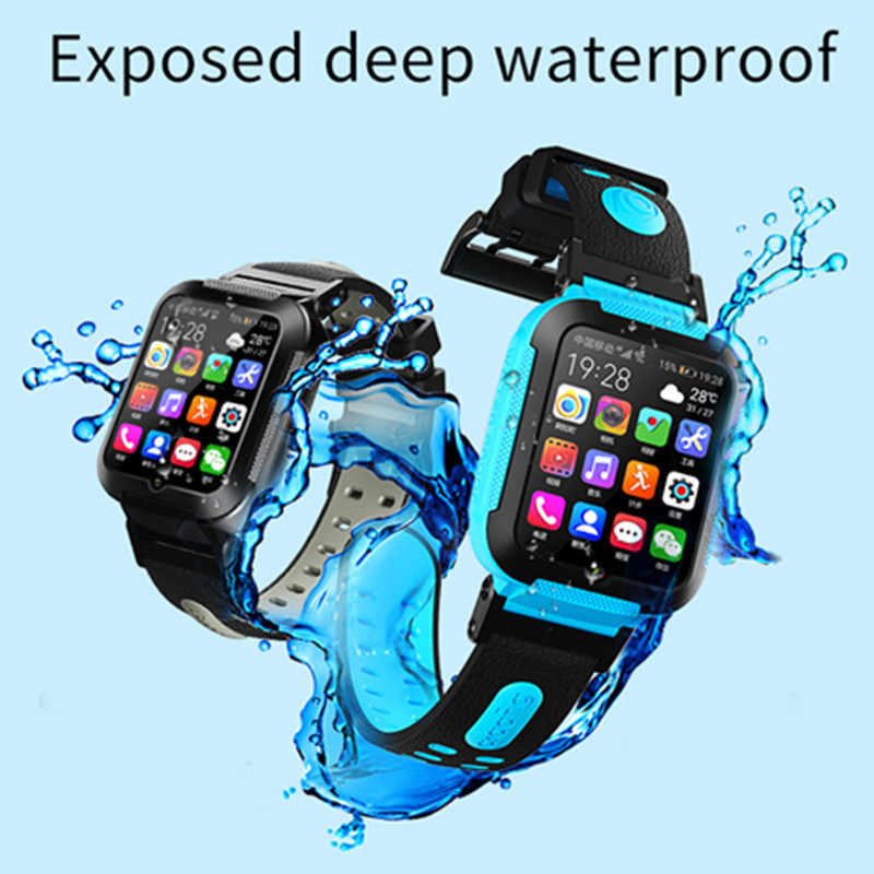E7 Anak Smart Watch GPS Lokasi Tahan Air Anak Smartwatch Touch Screen Bayi Aman Jam Tangan untuk IOS Android PK A36E Watch