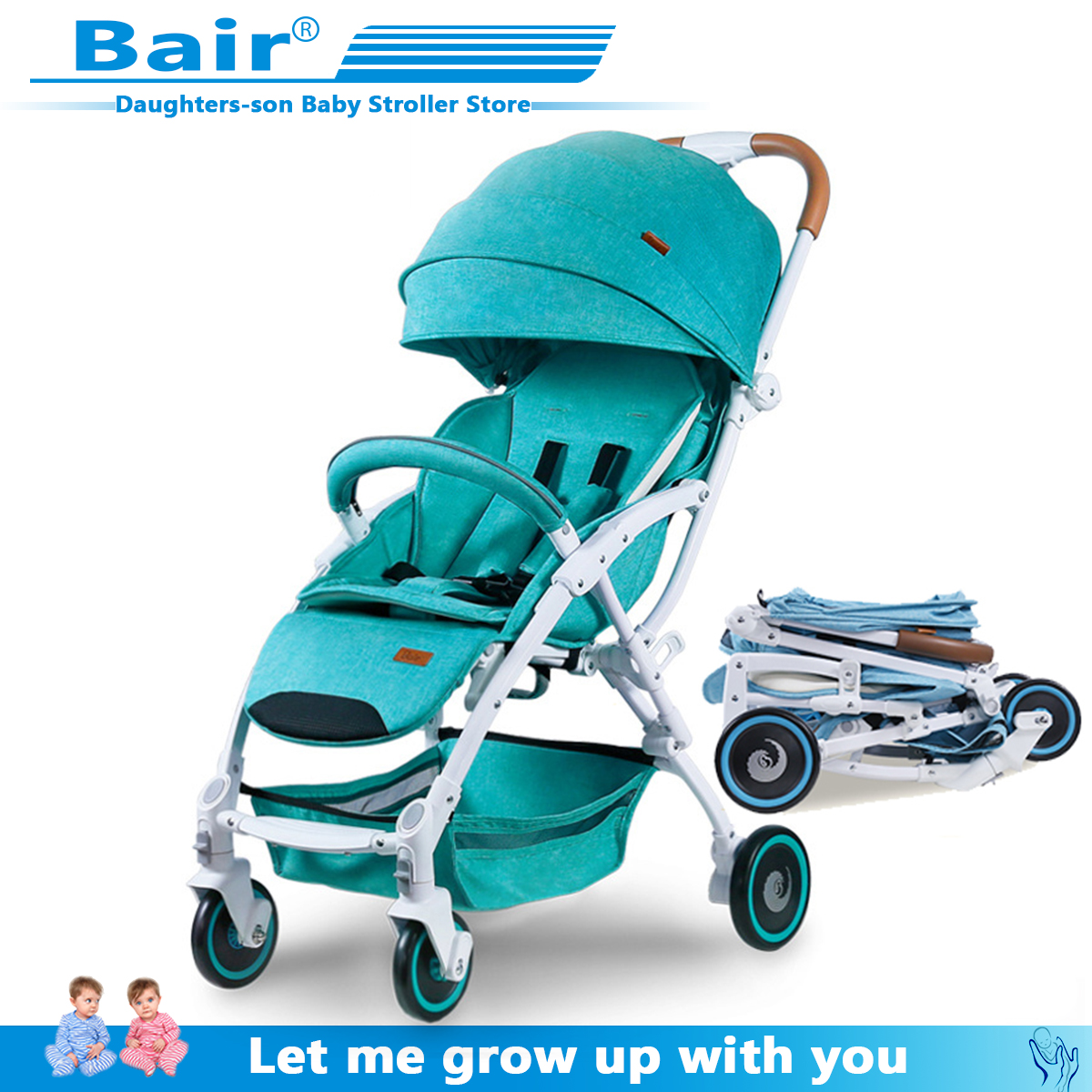 Bair 2019 Baby Stroller, Landscape Stroller  All-aluminum Car Wheel Shock Absorber Folding Stroller Free Shipping