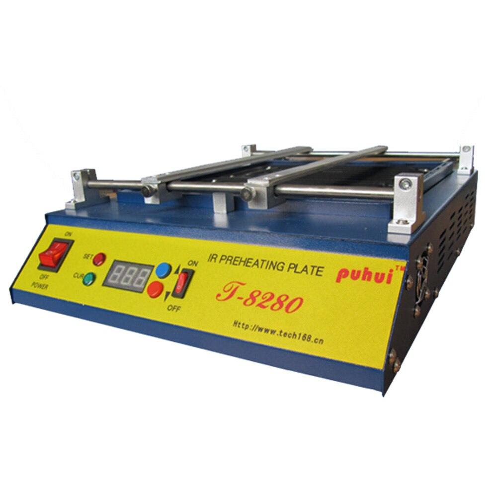 PUHUI T8280 220V 110V infrared preheating station preheating plate infrared preheating rework station PCB SMD BGA