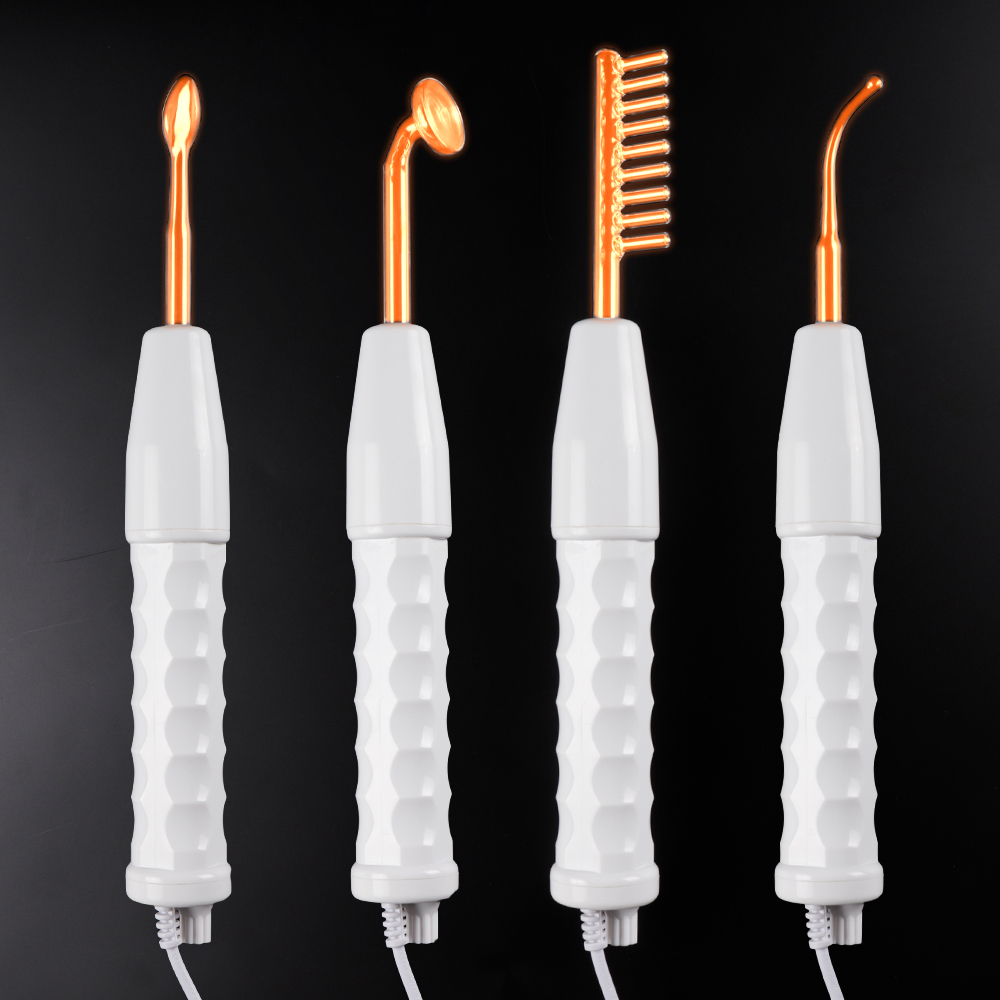 High Frequency Electrode Glass Tube Electrotherapy Beauty Device Skin Care Facial Acne Spot Wrinkles Remover Spa Salon Home