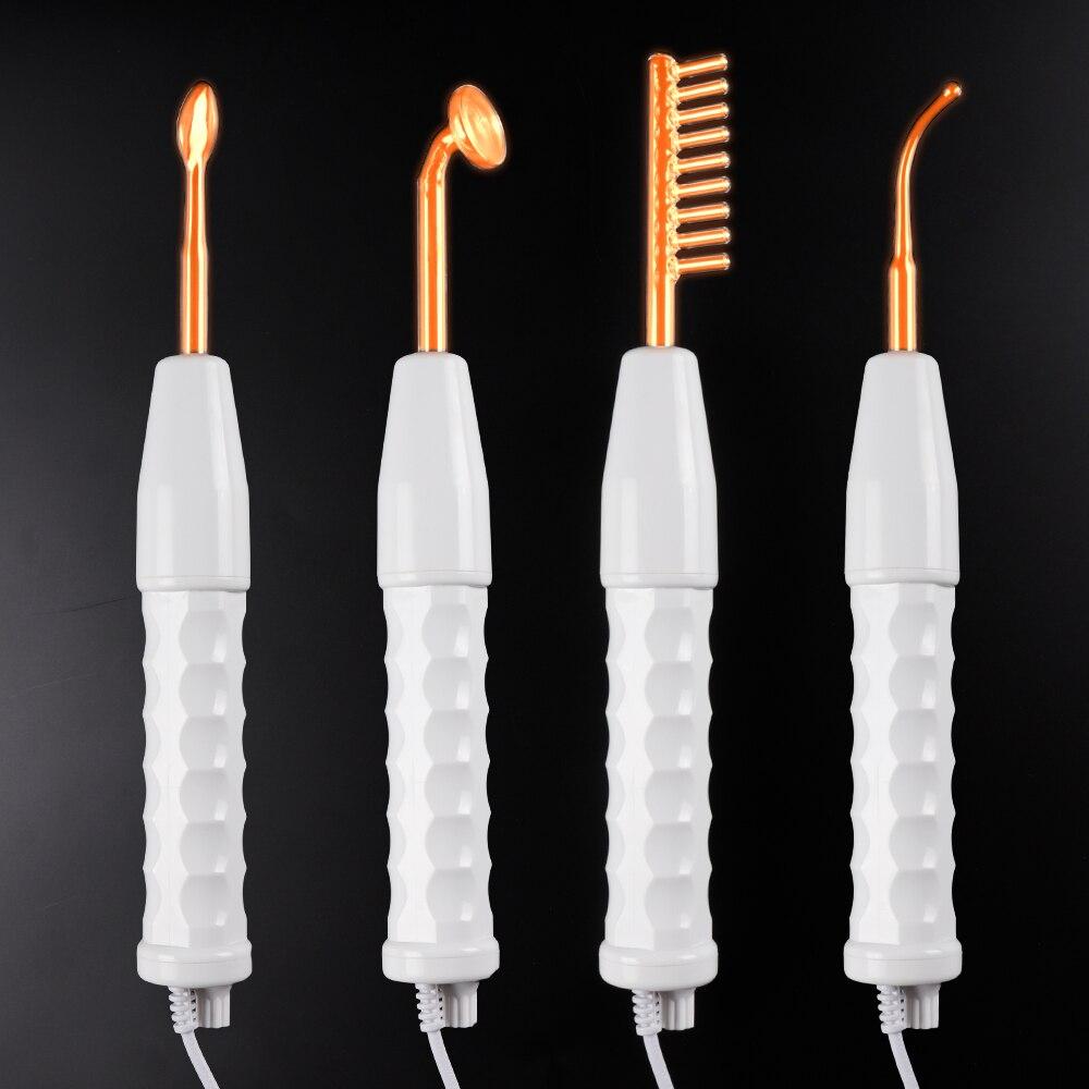 Tubo De Vidro Do Eletrodo de alta Freqüência Eletroterapia Beleza Dispositivo Local Acne Rugas Removedor de Cuidados Da Pele Facial Spa Salon Início
