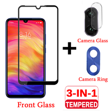 3-IN-1 For Xiaomi Redmi Note 7 Tempered Glass Screen Protector On Redmi Note 7 Camera Protective Glass Red mi Note 7 Note7 Redmy