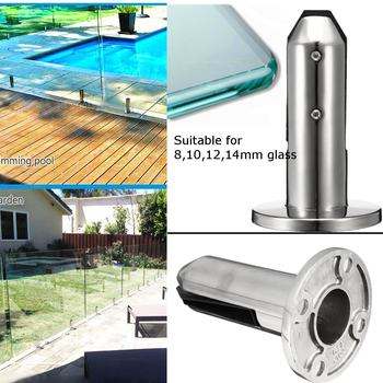 304 Stainless Steel Round Clamp Glass Panel Pool Fence Staircase Bracket Spigot Balustrade Floor Deck Mount Support Clamp