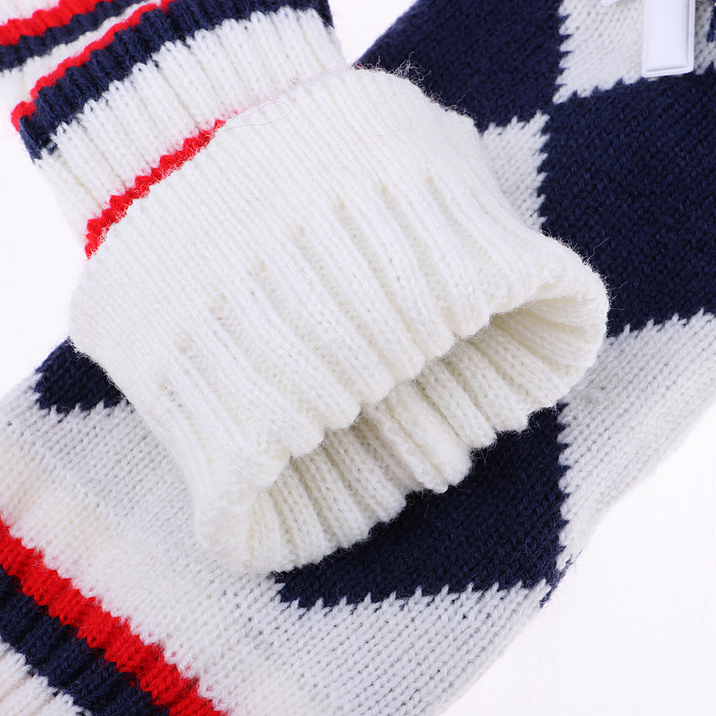 3Pcs Golf Knit Headcover Vintange Long Neck Pom Pom Sock Covers With Number Tags (#1 #3 #5)