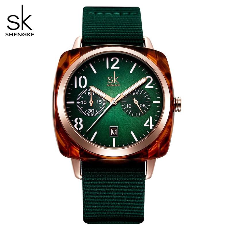 Shengke модные женские часы, нейлоновые кварцевые наручные часы, женские часы, Relogio Feminino Montre Femme Horloge Zegarek Damski Reloj Mujer Женские часы      АлиЭкспресс