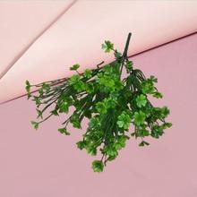 Four-Leaf Decorations Simulated Realistic Green-Plants-Decor 1PC Exterior Arrangeme Household