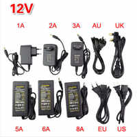 Lighting Transformer 220v to 12v power supply led driver Adapter dc 12v 1A 2A 3A 4A 5A 6A 8A 10A for monitor LED Strip Switch