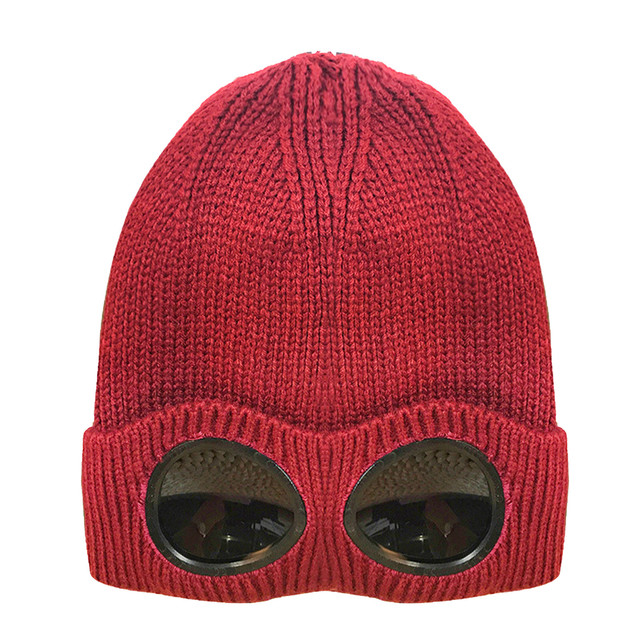 Mens Women Casual Cashmere Knitted Beanie Hat Unisex Winter Warm Skiing Cap