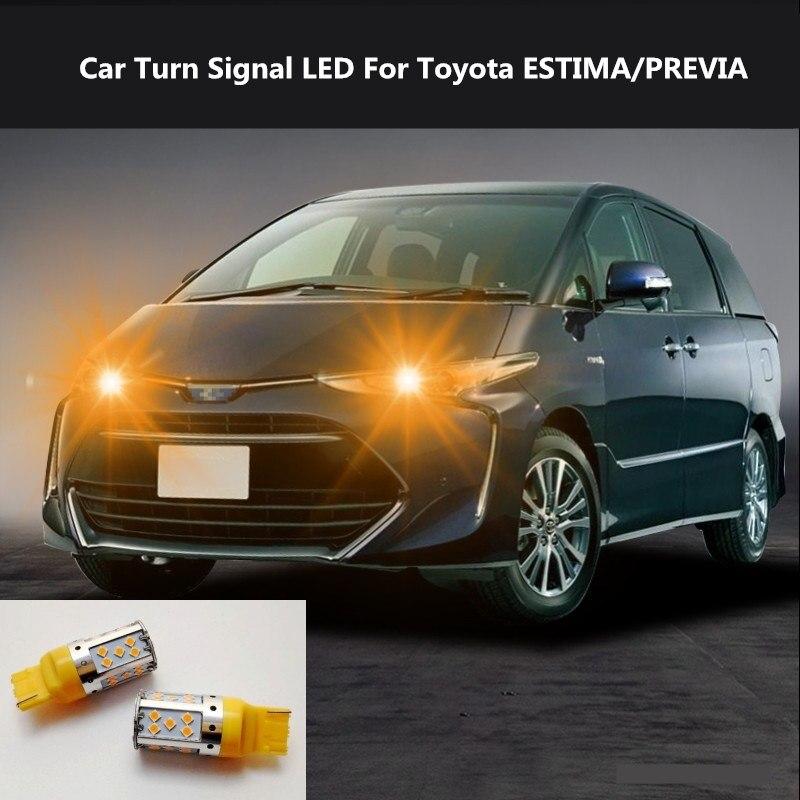 2PCS Car Turn Signal LED Command light headlight modification 12V 10W 6000K For Toyota ESTIMA/PREVIA