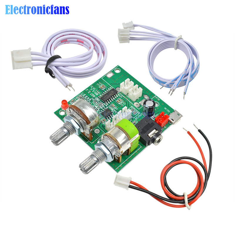 DC <font><b>5V</b></font> 20W <font><b>2.1</b></font> Channel 3D Surround Digital Stereo Class D Audio <font><b>Amplifier</b></font> Digital Power AMP Board Module For Arduino With Wires image