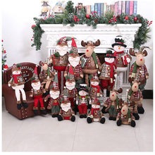 Christmas Decor Cute Dolls Christmas Tree Hanging Santa Claus Sock Gift Party Decor 2020 NEW Year Kids Gifts Xmas Tree Ornament(China)